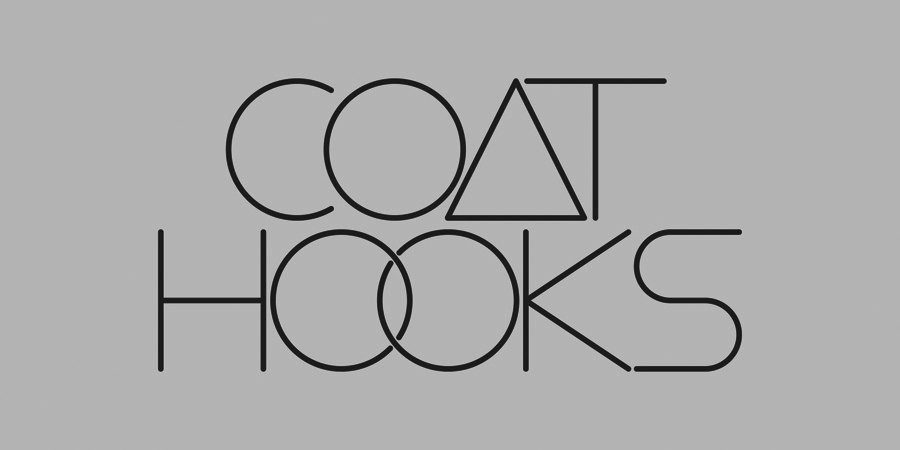 Coat Hooks Logo by Mikey Lland